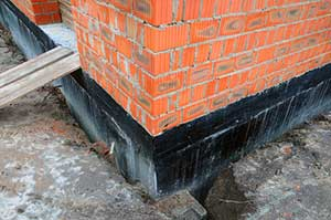 a completed foundation waterproofing project
