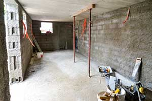 progress of waterproofing a damp basement