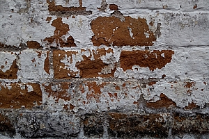 Old brick with decaying mortar