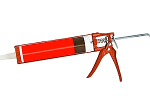 Red fire caulking gun