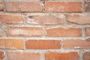 Chipped chimney bricks