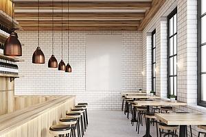 Interior of unique restaurant