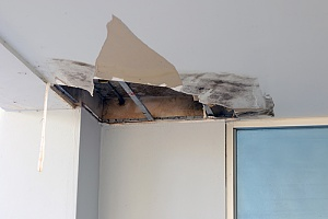 Water damage to office building