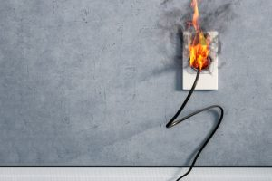 fire caulking and fire from electrical systems