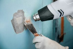 Heat gun is needed to remove caulking