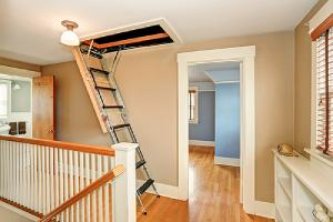 Attic doors that are not properly sealed when closed can lead to a cool air leak