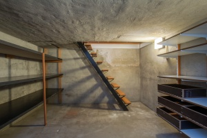 stairs and a unfinished basement