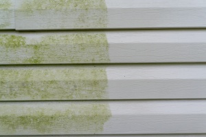 a home with before and after having powerwashing done