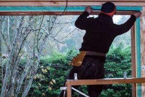 Window Glazing Work in Process