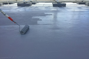Waterproofing Company Big Roof with Roller