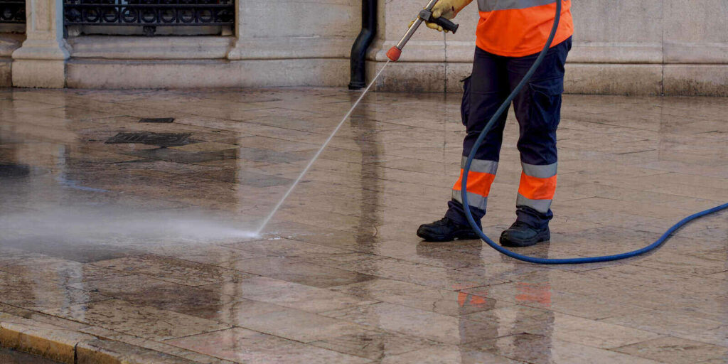 cleaning and washing of city streets