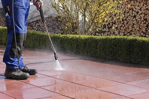 Commercial Pressure Washing cleaning of floor