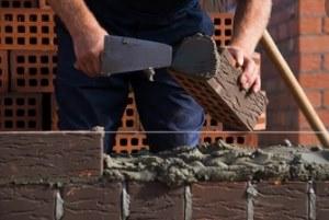 masonry repair work in progress